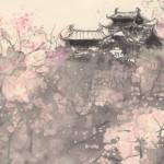 現代水墨画桜
