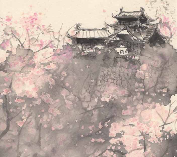 web現代水墨画桜